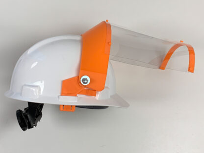 Hard Hat with Clear Face Shield