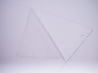 Clear sheet with protective film