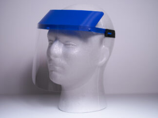 Children's Face Shield on mannequin